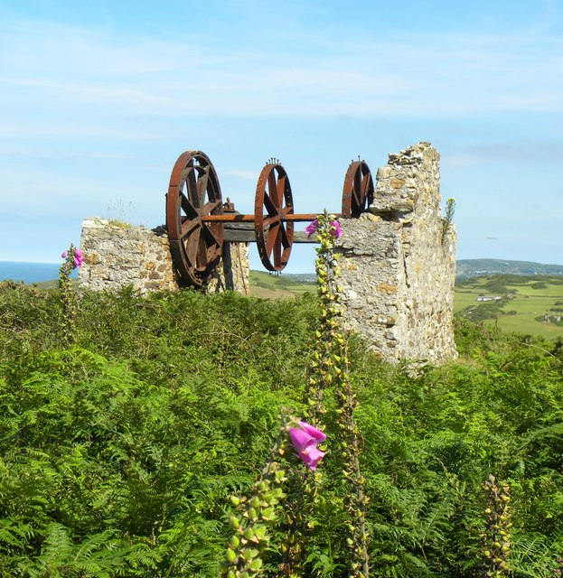 Old winding gear at Graig Wen
