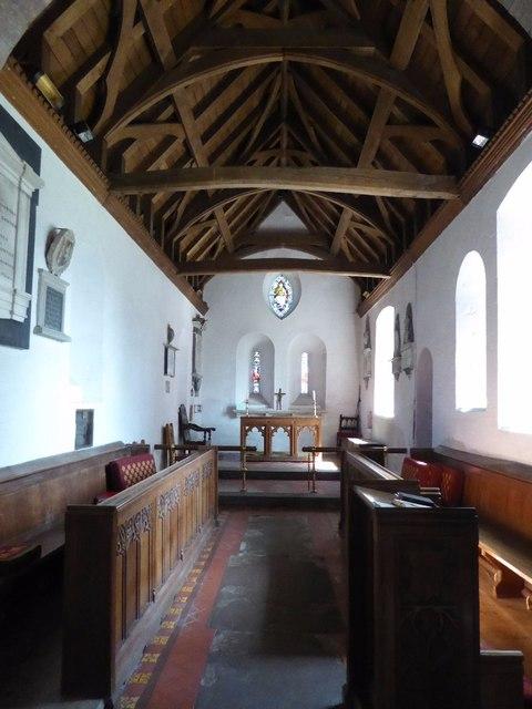 Chancel of Ashford Carbonel church