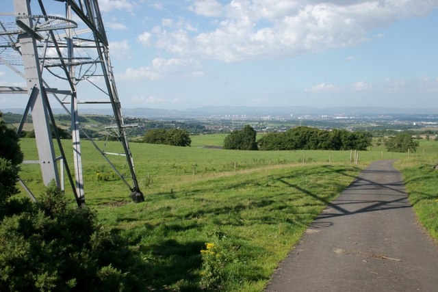 View from the pylon on Dyke Hill