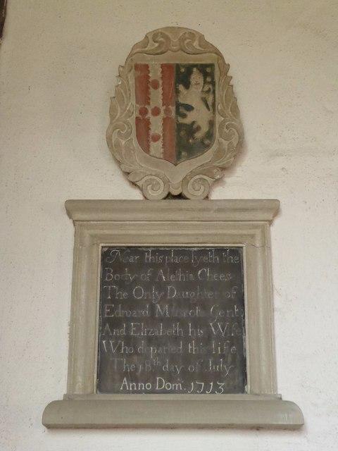 Memorial to Alethia Chees