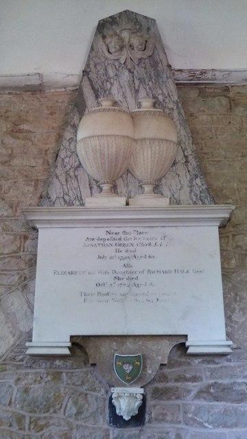 Memorial to Jonathan Green