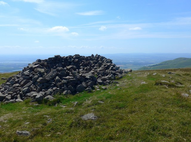 Cairn near the summit of King's Seat Hill
