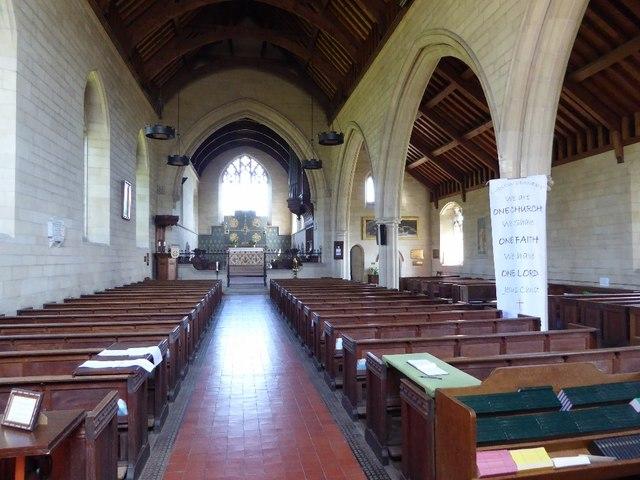 Interior of All Saints, Richards Castle