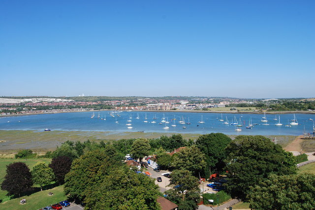 The view northeast from Portchester Castle (1)