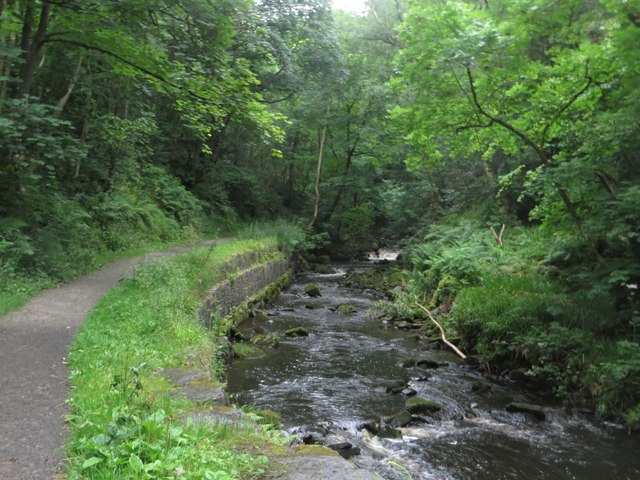 Haltwhistle Burn and footpath