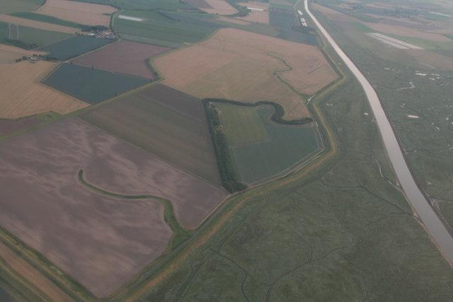 Welland Outfall at Fosdyke Wash: aerial 2017