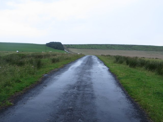 Unfenced road west of Cawfields