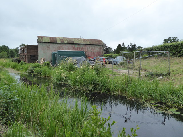 Workshop beside the canal near Berriew