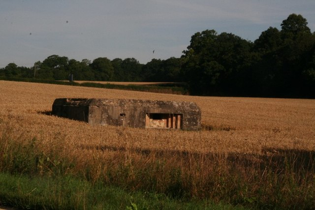 Pillbox next to the Granta, a branch of the River Cam