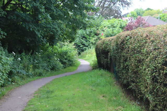 Footpath behind Canberra Crescent, Glasllwch