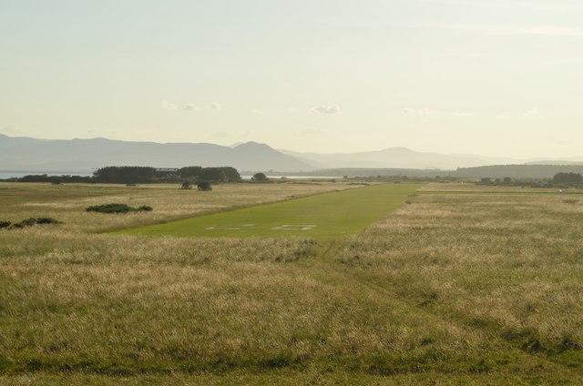 Runway 28 at Dornoch Airfield