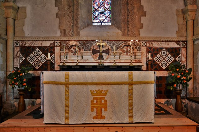 Stewkley, St. Michael's Church: The altar