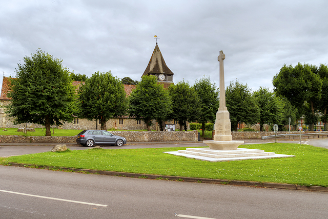 War Memorial and Parish Church, King's Somborne