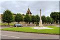 SU3631 : War Memorial and Parish Church, King's Somborne by David Dixon