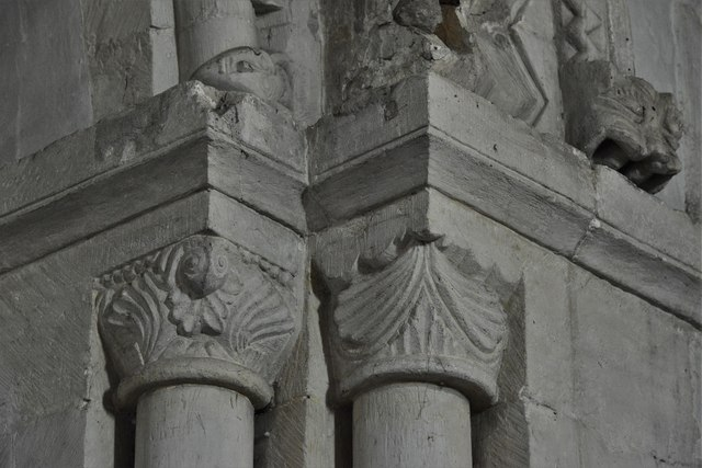 Stewkley, St. Michael's Church: West tower arch capital 1