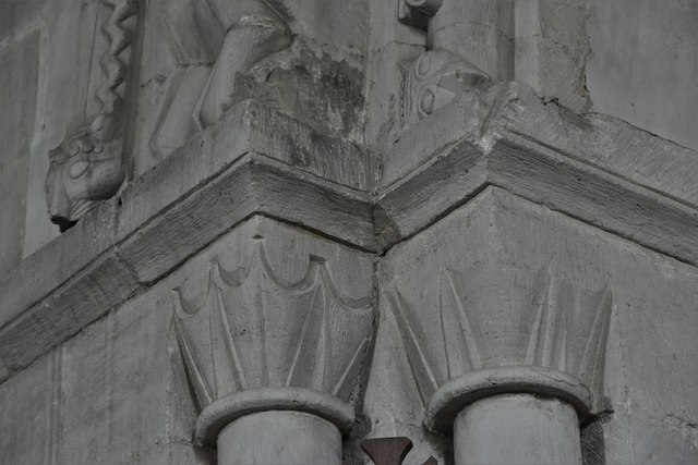 Stewkley, St. Michael's Church: West tower arch capital 2