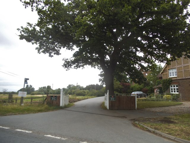 Entrance to private estate, St Albans