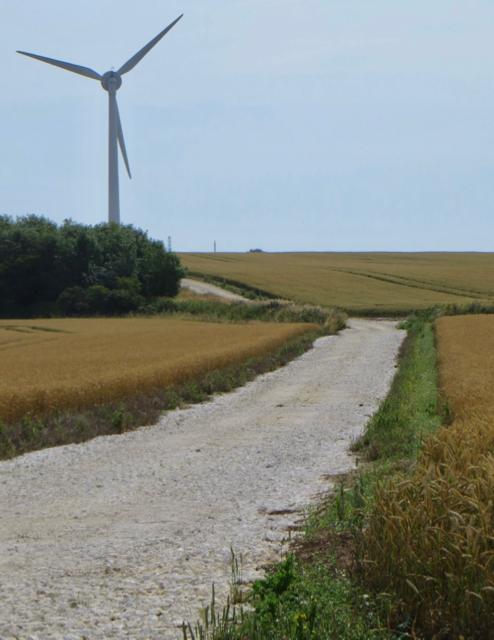 Turbine access track near Weeton