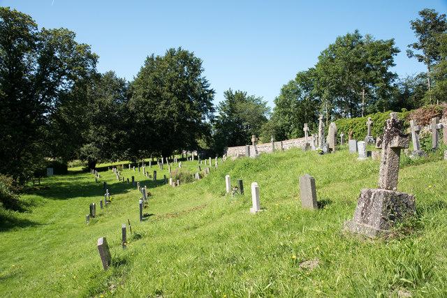 Graveyard at Bampton Grange