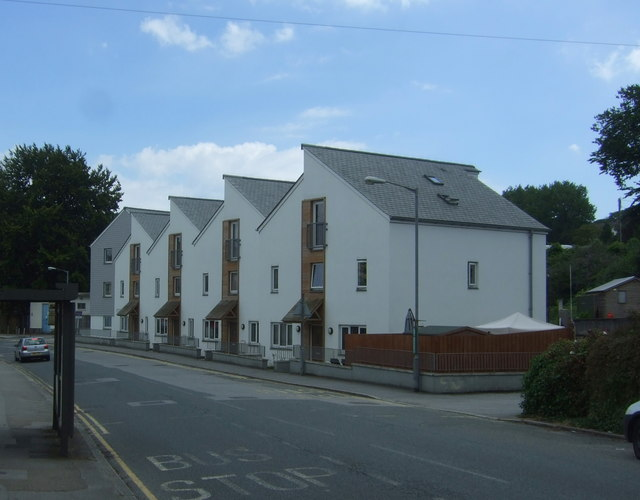 Modern houses on North Parade