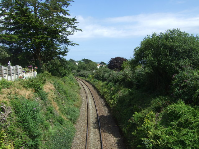 Railway towards Falmouth Town and Docks