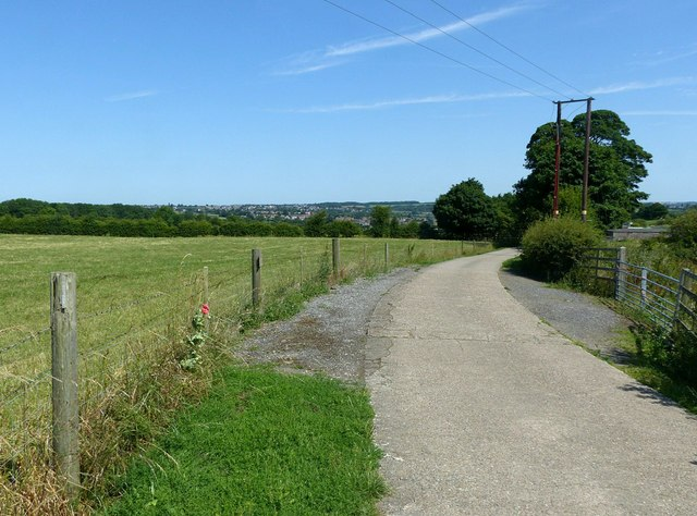 Track to Bank's Barn Farm