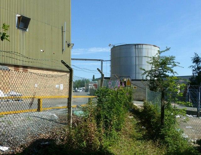 Footpath through the industrial estate