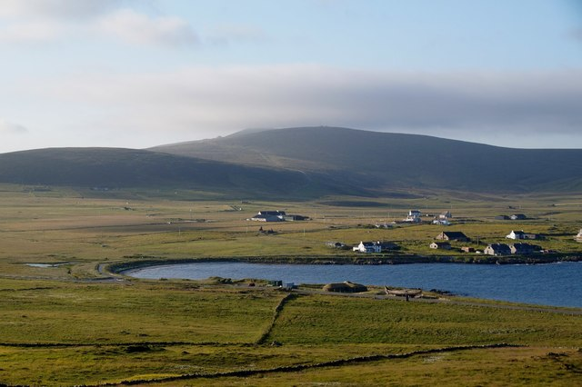 Haroldswick from the north slopes of Little Heog