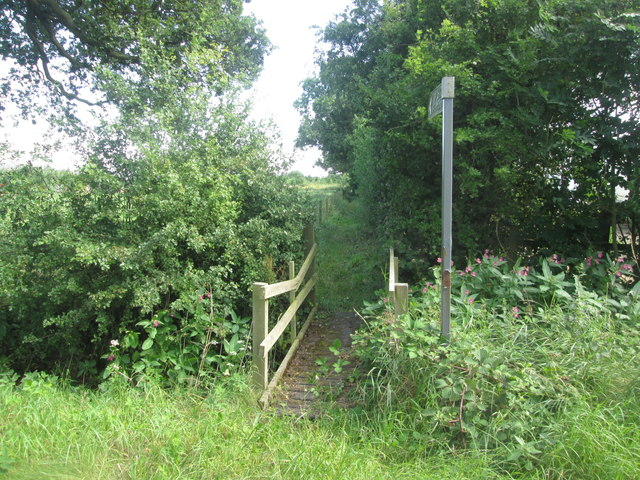 Bridge at the start of the footpath to Shipton