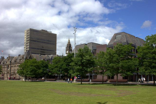 Middlesbrough civic centre park