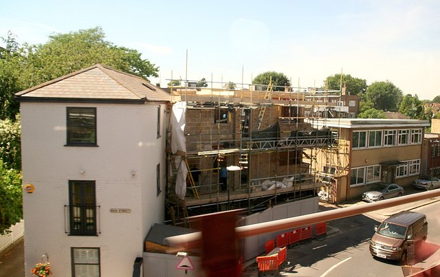Building work on property in Vicarage Road