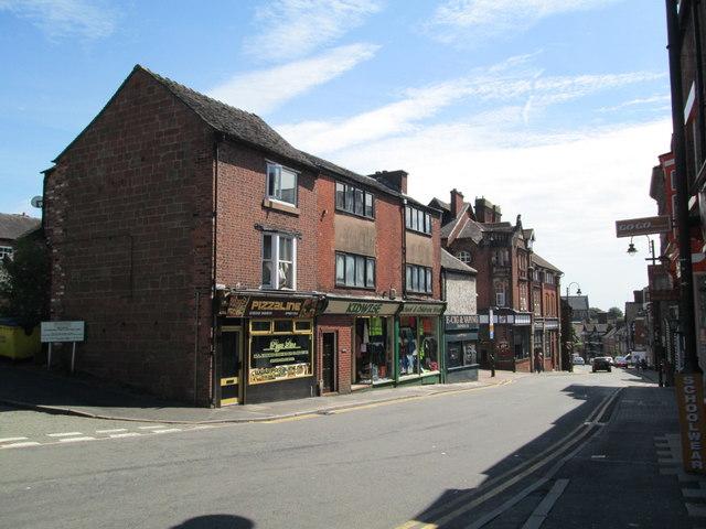 Shops on St Edwards Street, Leek