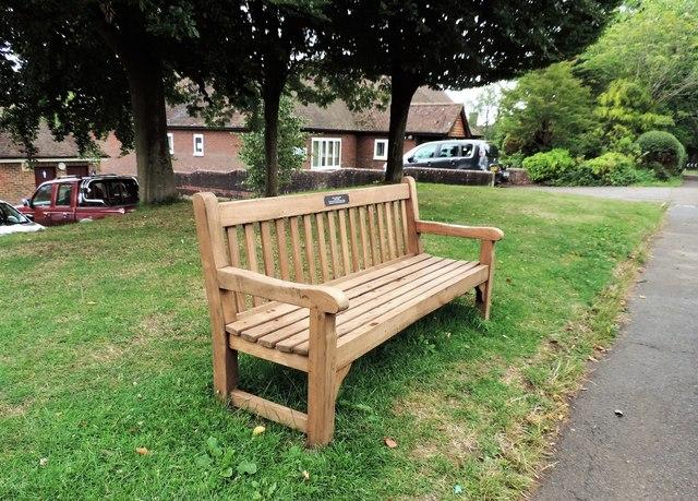 Ralph Dellow commemorative seat, Sedlescombe village