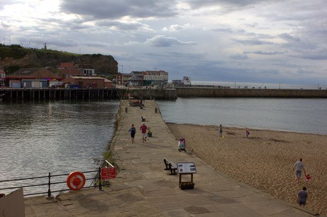 Whitby. The inner pier on the east side of the river.