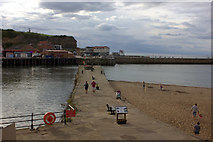 NZ8911 : Whitby. The inner pier on the east side of the river. by Robert Eva