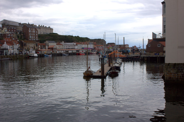 Whitby. Outer harbour from the swing bridge