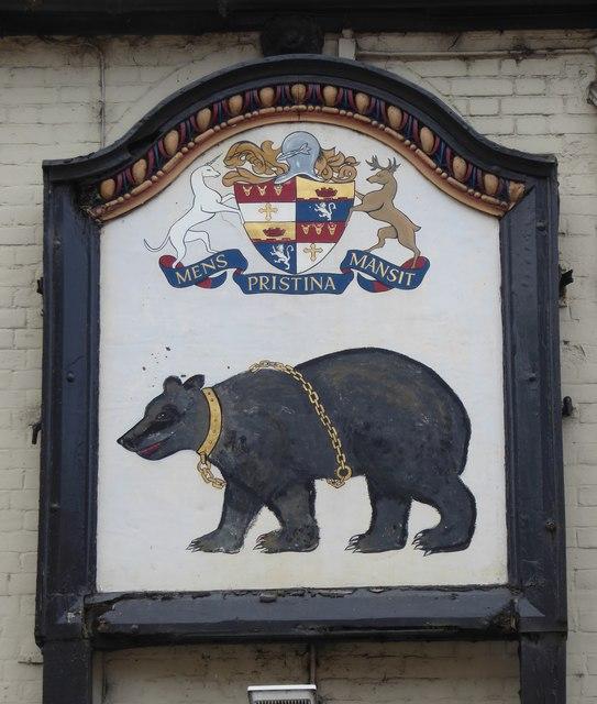 Inn sign: The Bear Hotel, Hungerford