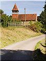 SU5132 : Martyr Worthy, Church Lane and Parish Church by David Dixon