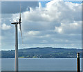 J4690 : Wind turbine, Knocknagulliagh near Whitehead - July 2017(2) by Albert Bridge