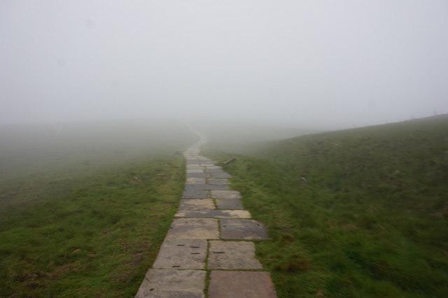 2-24pm Path off Pen-y-Ghent summit