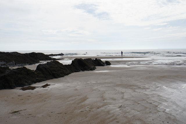 Rocks on Croyde Beach