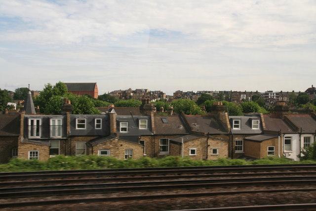 House backs, Eversleigh Road, Battersea