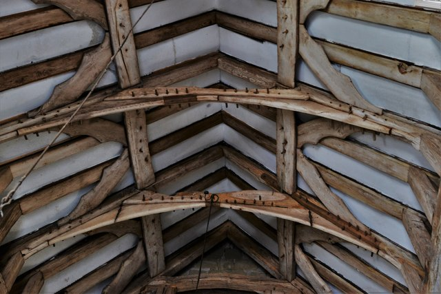 Abberley, St. Michael's Old Church: Roof detail