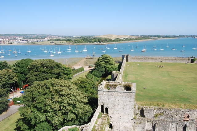 The view east from Portchester Castle