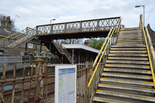 Footbridge, Thetford Station