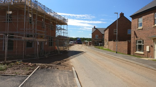 Houses under construction on Henson Close, Whetstone