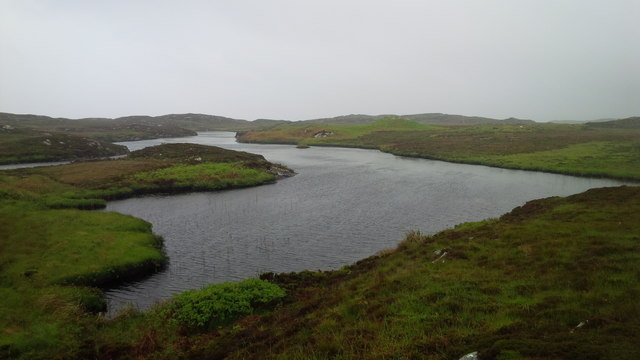 Loch on the east side of Coll