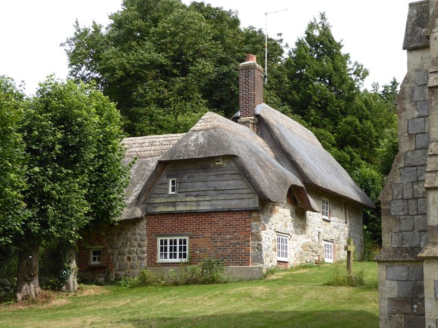 Cottage by the churchyard at West Overton