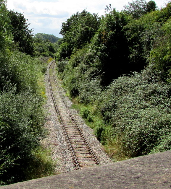 Railway towards Westerleigh Rail Head, South Gloucestershire