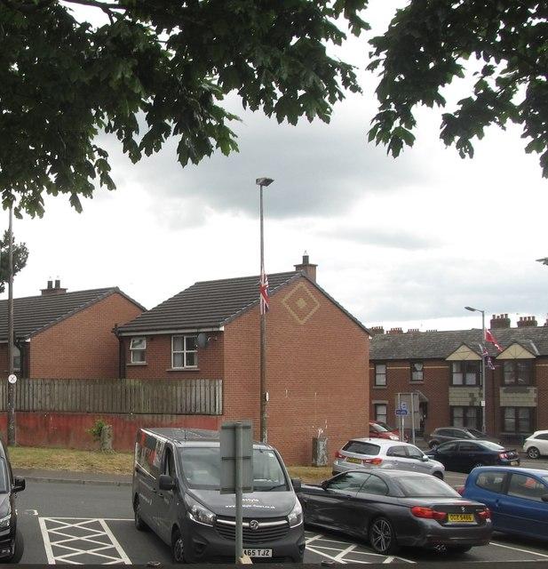 Housing estate on redeveloped land between Upper Newtownards Road and Ravenscroft Avenue